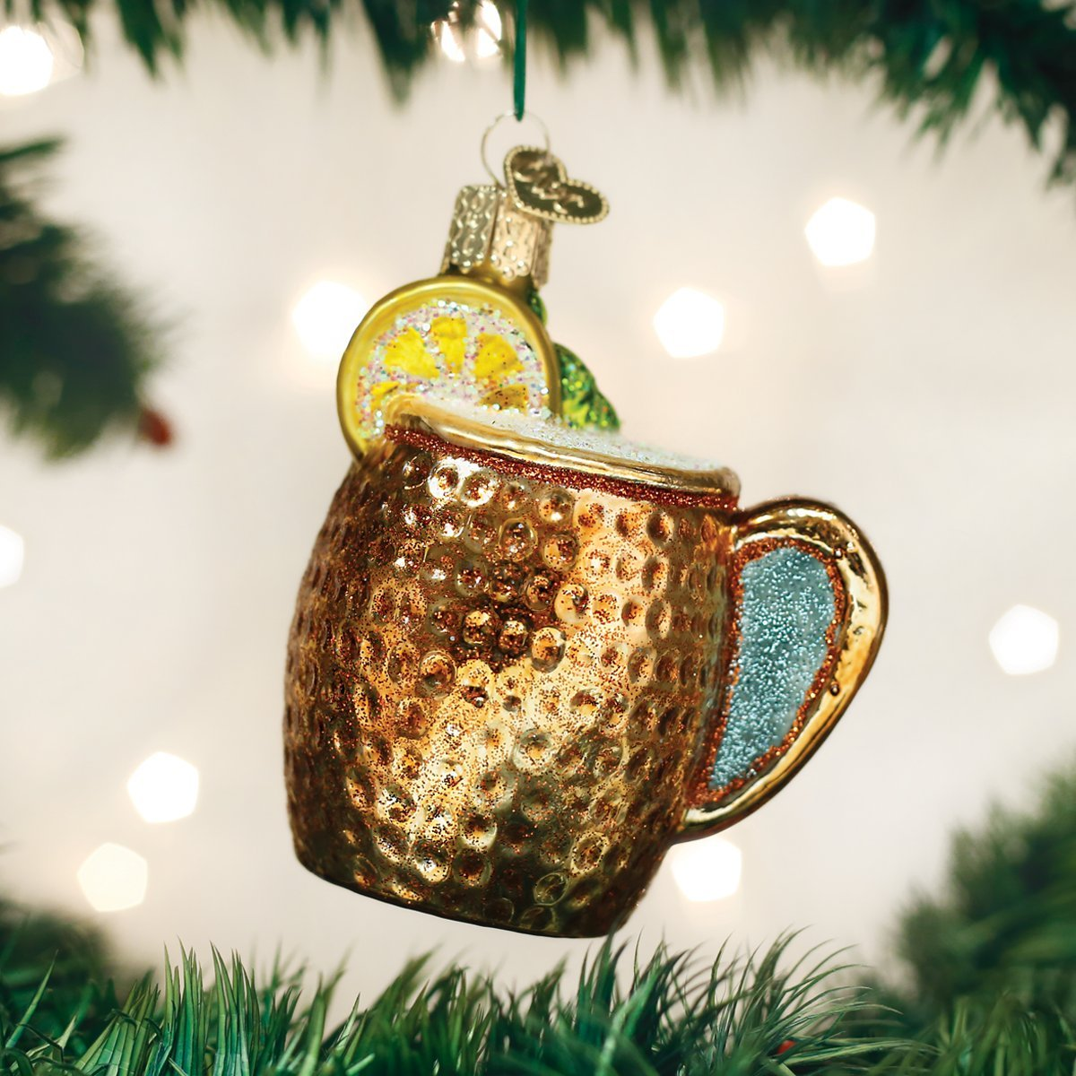 32273 Old World Christmas Glass Blown Ornament Moscow Mule Mug