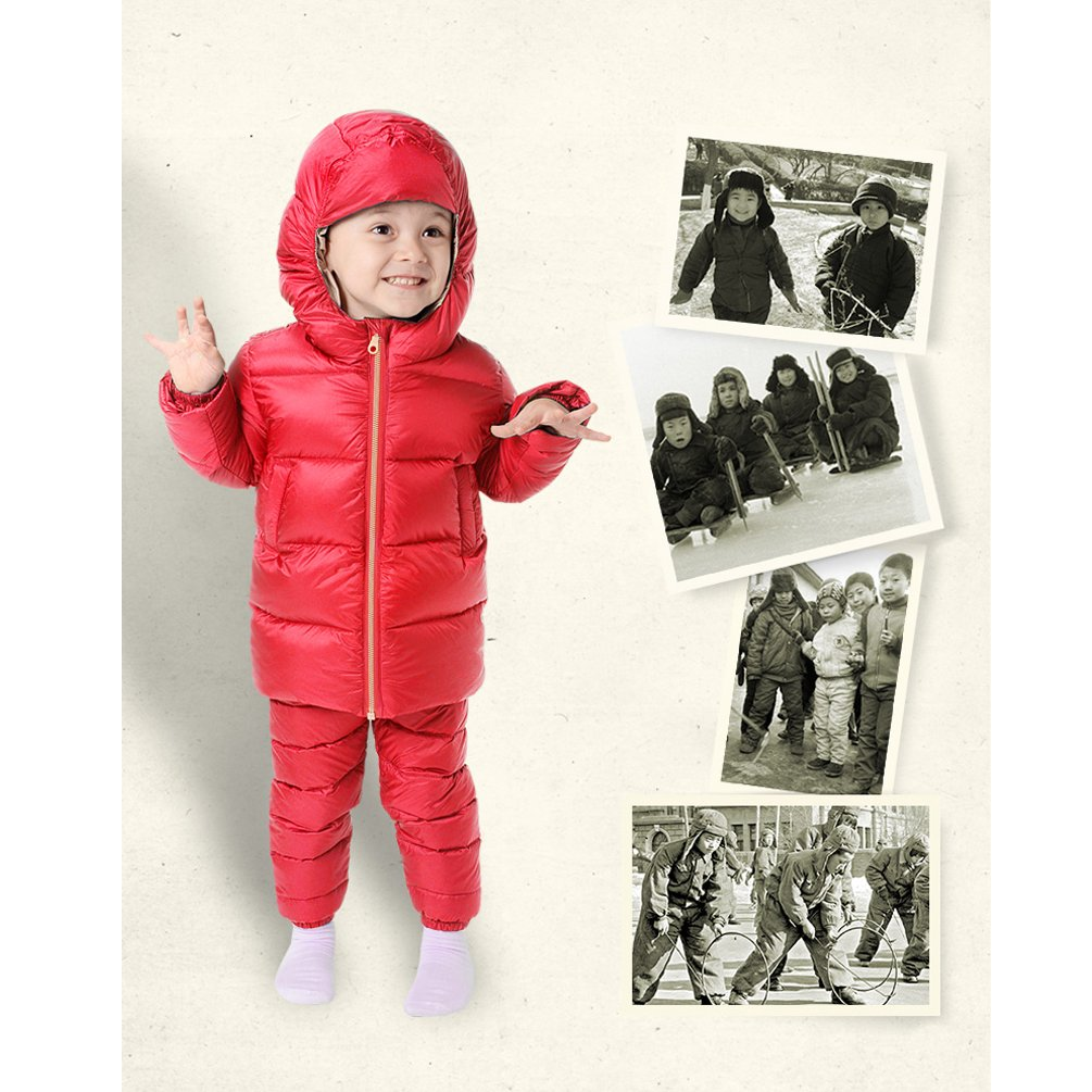 38698f259295 Nanny McPhee Kids Down Jacket Unisex Baby Thicken Hooded Down Puffer ...