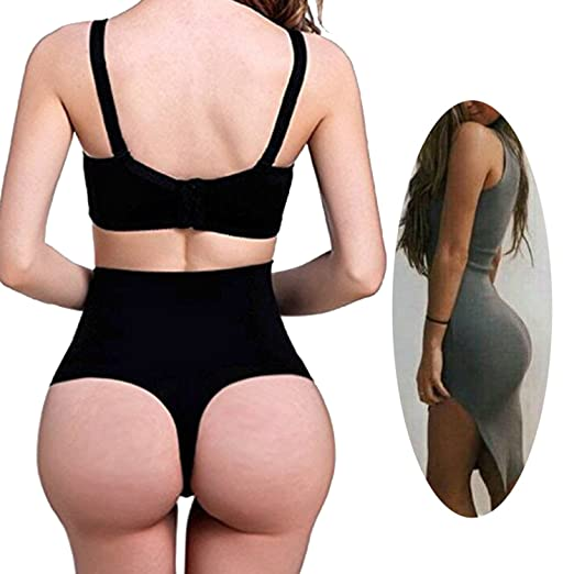 f4f1fb9eb697 Image Unavailable. Image not available for. Color: FUT Women Sexy Tummy  Control Shaper High Waist Body Shapewear Briefs Underwear Thong