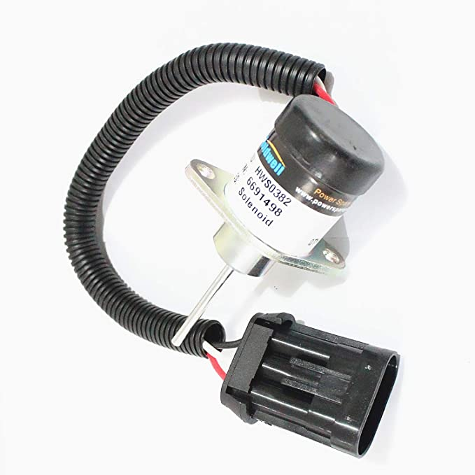 6691498 1503ES-12A5UC4S 1G925-60011 12V Shut Off Solenoid 3 Month Warranty SINOCMP CP-U0328 Stop Shutdown Solenoid For Bobcat S185 Skid Steer Kubota Engine