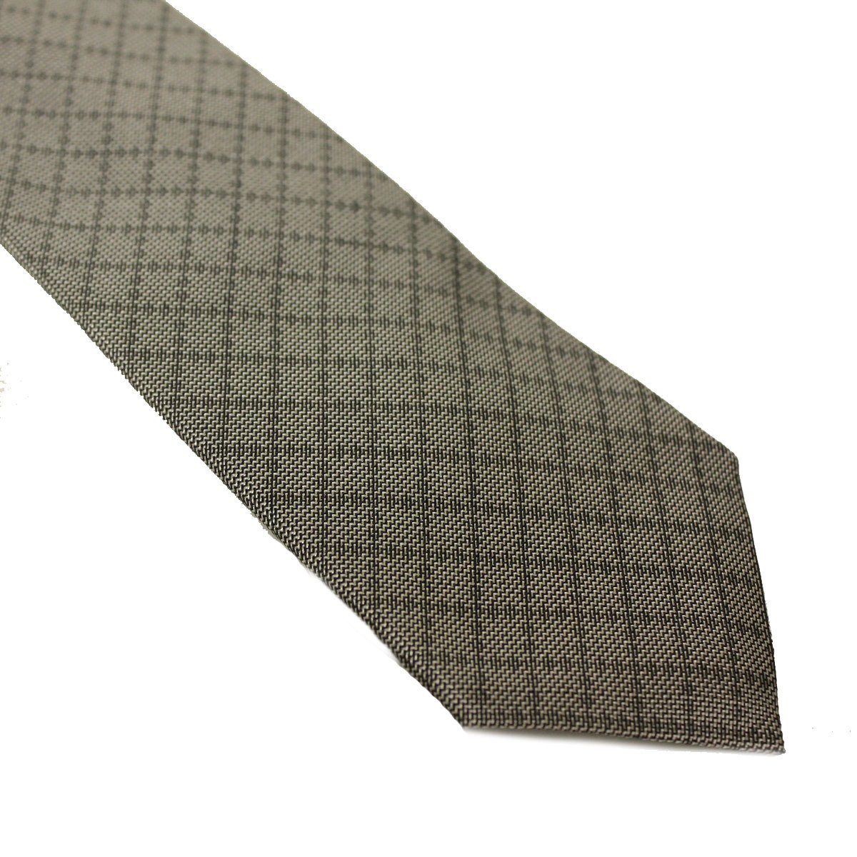 Gucci Gray Diamante Men's Woven Silk Tie 345265 4E002
