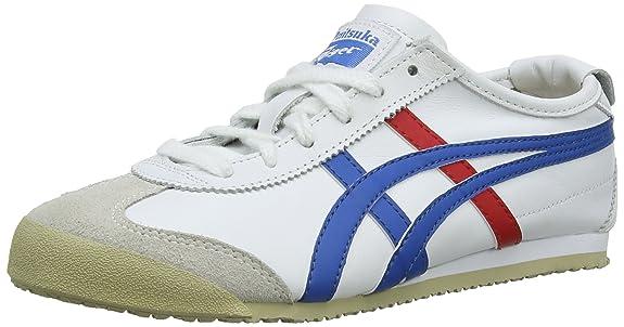 Onitsuka Tiger Onistuka TigerMexico 66 - Sneakers Basse da Unisex da Adulto, Colore Bianco (White/White 0101), Taglia 37.5
