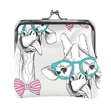 Amazon.com: Funny Camel con gafas de sol cartera monedero ...