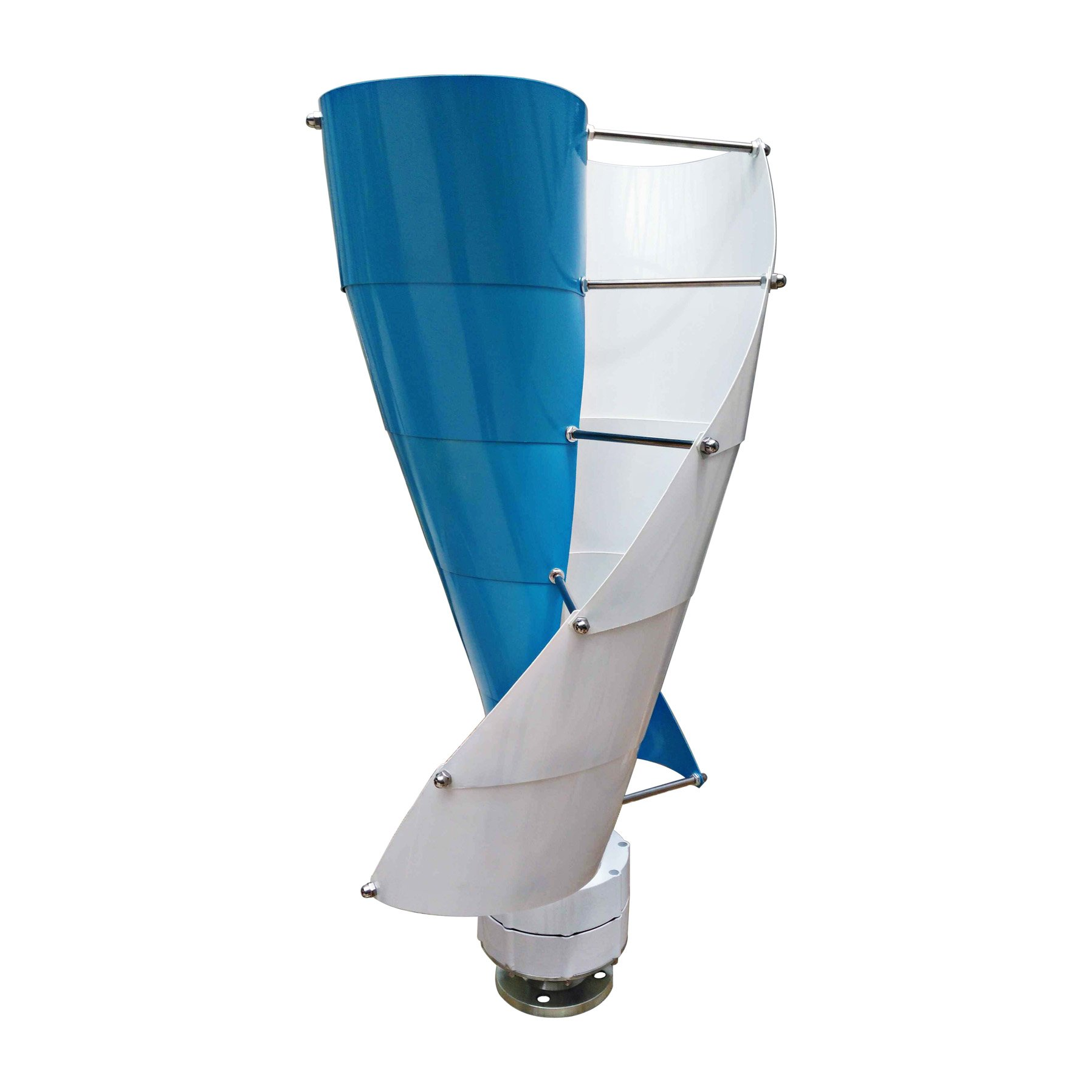 Spiral Wind Turbine Generator Vertical Axis Type 100-400W Three Phase Permanent Magnet AC Synchronous including a controller