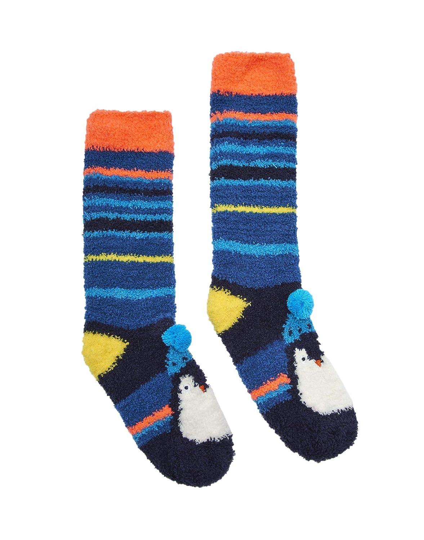 Joules Festive Fluffy Socks - Penguin