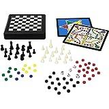 Juego 9 in 1 - Reisespiel Kinder und Erwachsene inkl. Schach, Dame, Backgammon I Kompaktspiel I Gesellschaftspiele für Unterwegs - Mehrfarbig