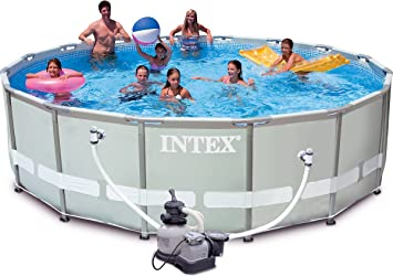 Intex Ultra Frame Pool Set Swimming Pool 54438fr U2013 4.88 X 1.22 M U2013 Round  Metal