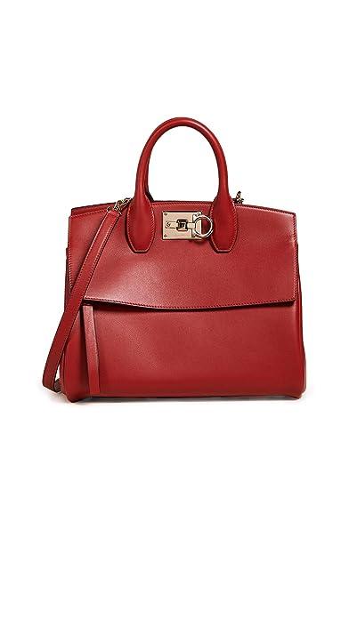 7ef9df86b5 Salvatore Ferragamo borsa a mano Studio bag donna lipstick: Amazon.it: Scarpe  e borse