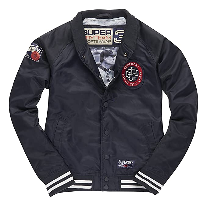 Superdry Captain COACK Jacket, Abrigo Impermeable para Mujer, Azul, XL