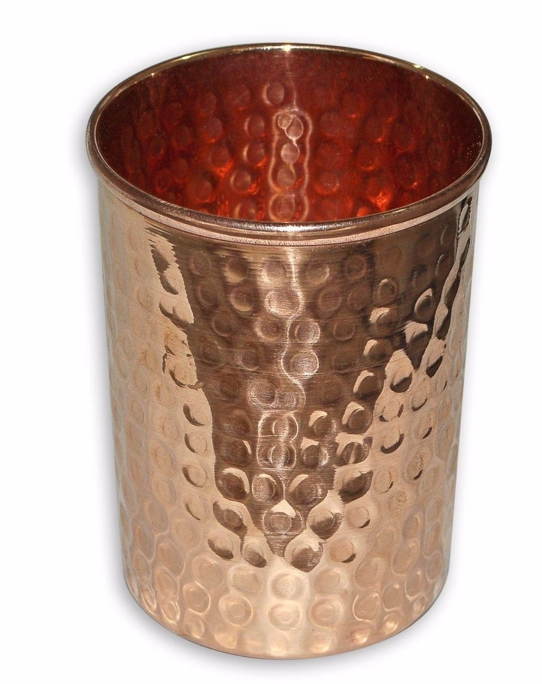 Rastogi Handicrafts Hammered Pure Copper 6.5 ltr. Water Pot Storage Tank - Tumble With Tap Kitchen Home Garden by Rastogi Handicrafts (Image #1)