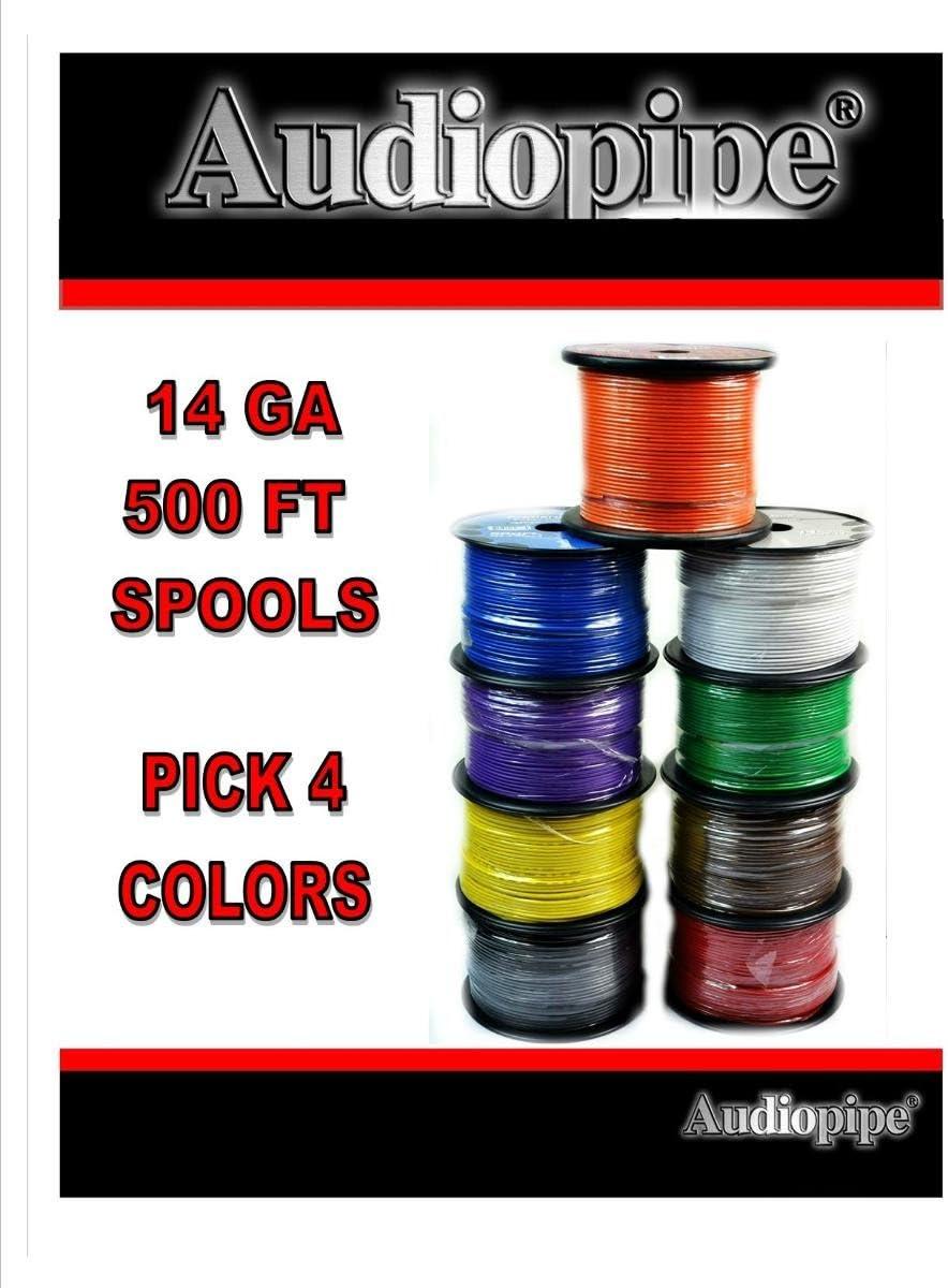 Choose 4 colors 14 Ga 500' ea Audiopipe Car Audio Home Primary Remote Wire 711Hcnq5BtLSL1200_