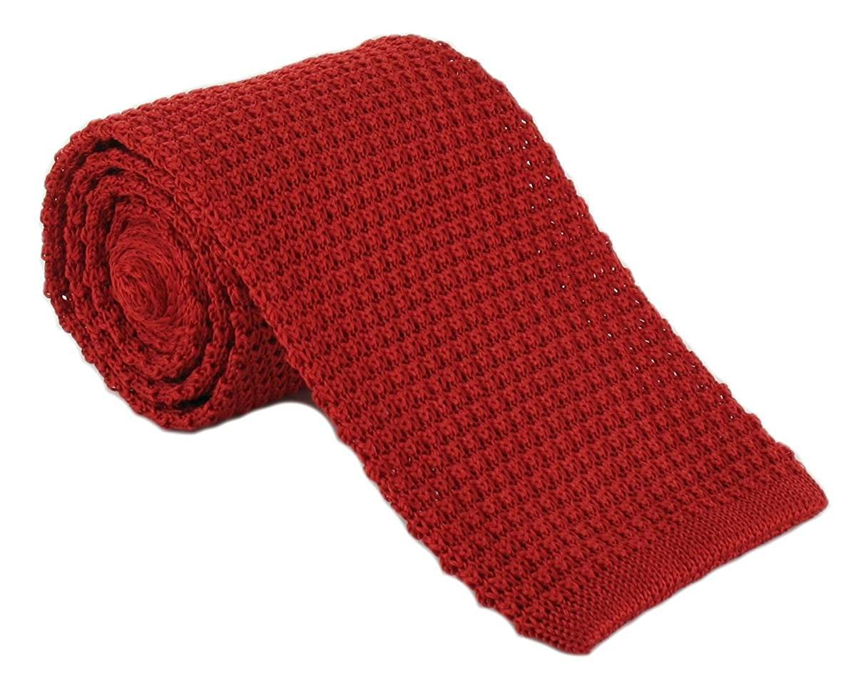 Michelsons of London Mens Silk Knitted Tie Red