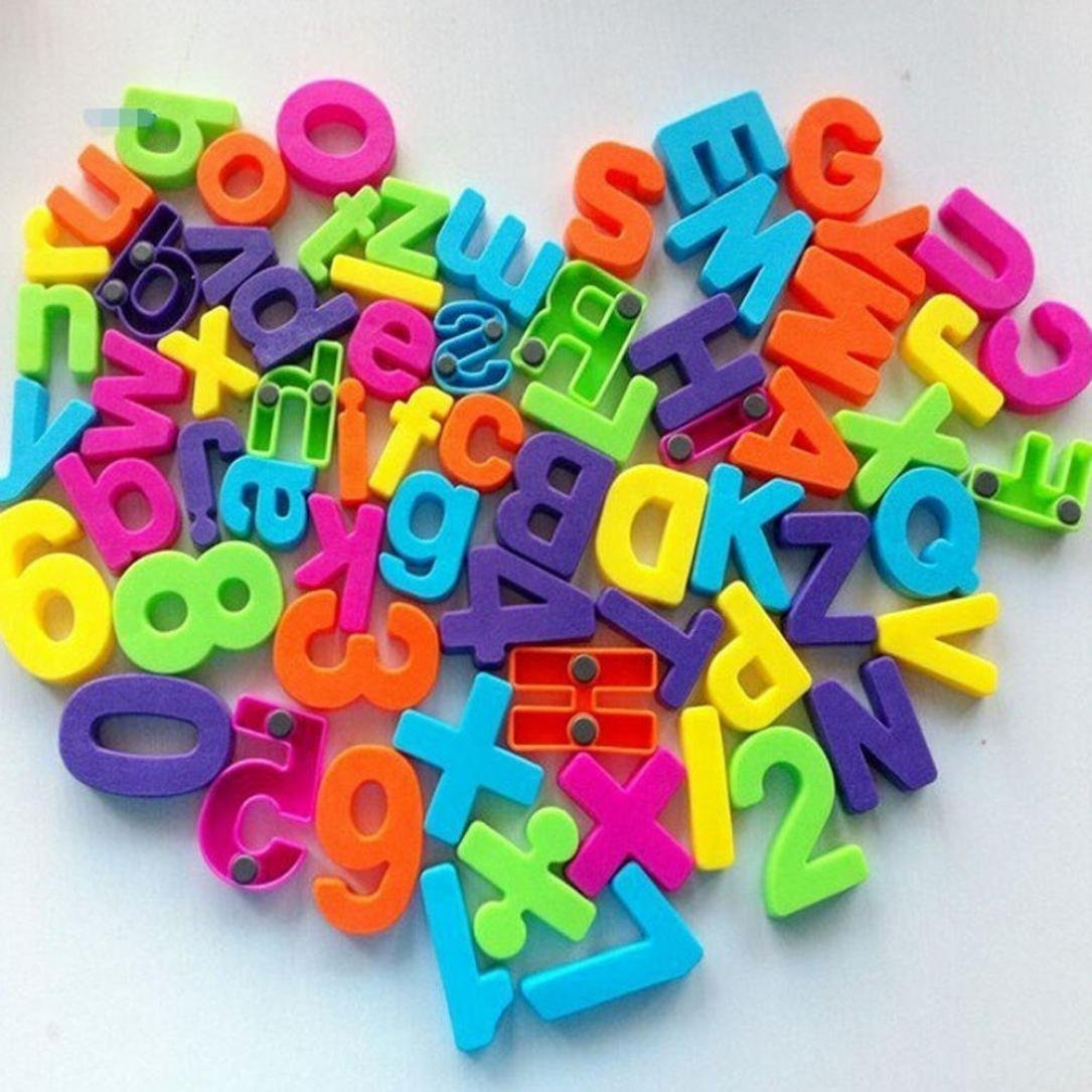 Molyveva Set Of 26 Colorful Educational Numbers Alphabet Refrigerator Magnets