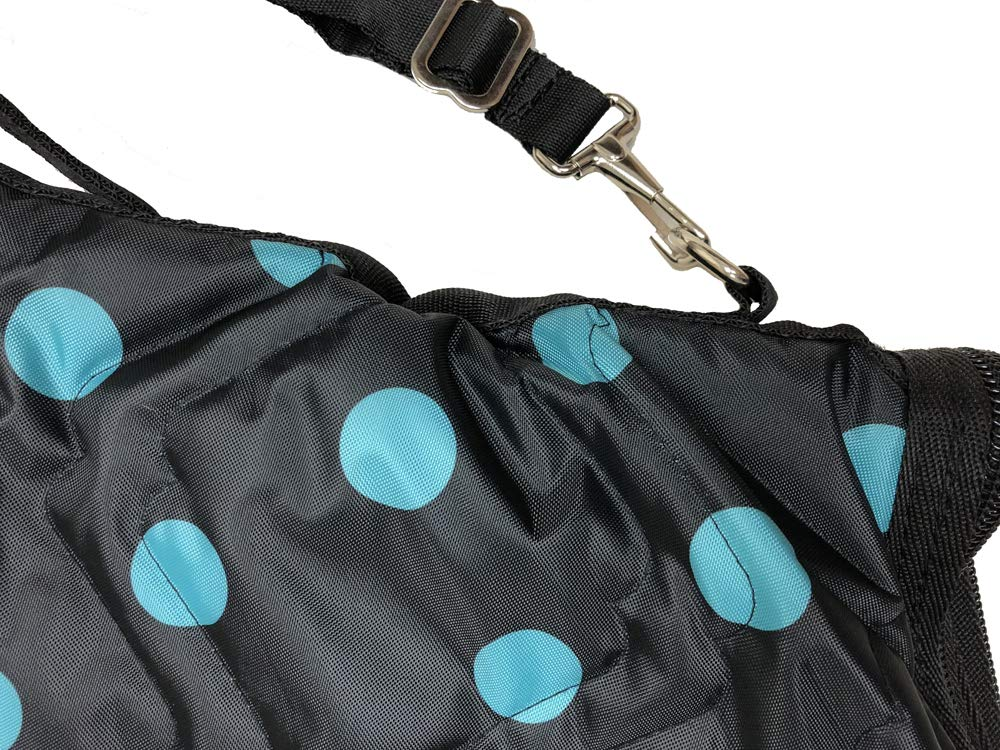 AJ Tack Wholesale English Horse Saddle Carrier Travel Bag Case All Purpose Quilted Black Turquoise by AJ Tack (Image #3)