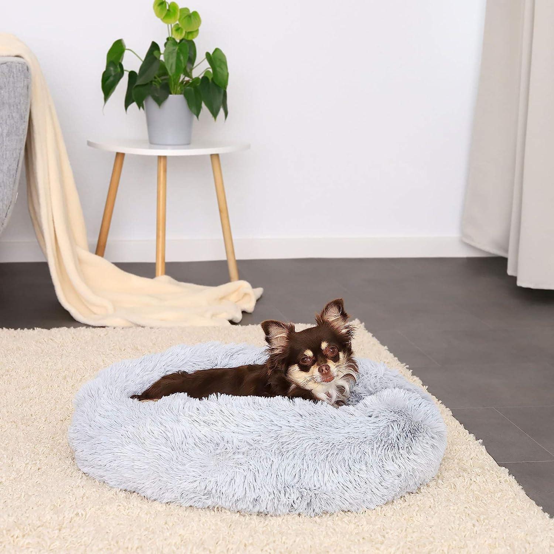 M Dibea Cama Perros Redonda coj/ín Gatos sof/á para Perros Donut /Ø 50 cm dimensi/ón Exterior Gris Claro