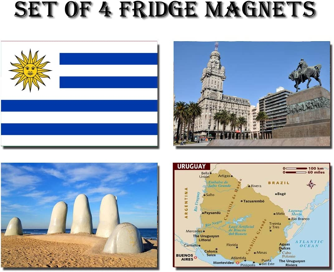 CFL SET OF 4 URUGUAY CALAMITA DA FRIGO IMANES PARA NEVERA – URUGUAY FLAG URUGUAY MAP URUGUAY ATTRACTIONS FRIDGE MAGNET: Amazon.es: Hogar