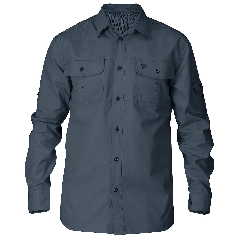 TALLA S. FJALLRAVEN Singi Trekking Shirt LS M Camisa de Manga Larga, Hombre
