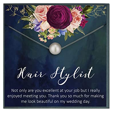 Amazon.com: Grace of Pearl Hair Stylist Jewelry Gift for ...