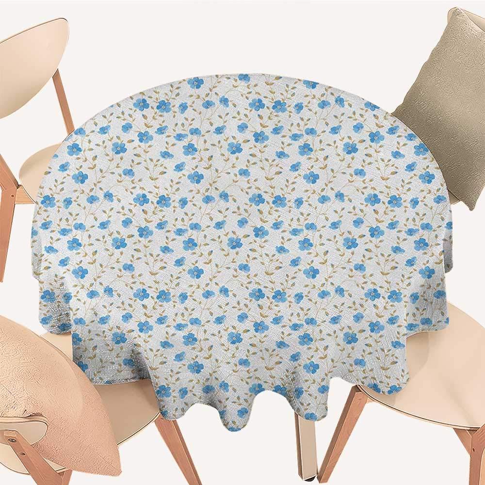 longbuyer フラワーファブリックテーブルクロス 落書きの咲き乱れる自然のデザイン 夏の季節のインスピレーションに 野花のアレンジメント マルチカラー D 54