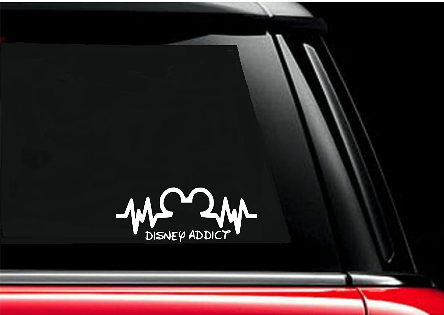 Amazon com disney addict decal walt disney mickey mouse minnie mouse disney addicts disney world for car truck suv window 6 x 2 8 everything else