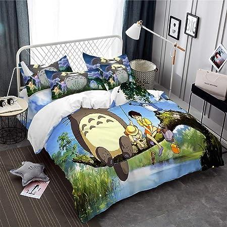 Copripiumino Totoro.Realin Set Copripiumino Mio Vicino Totoro Biancheria Letto Totoro