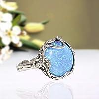 Blue Topaz /& Garnet Quartz Ring Ethnic Ring MG-38 Multi Gemstone Ring Designer Ring 925 Sterling Silver Plated Jewelry Size 7.5
