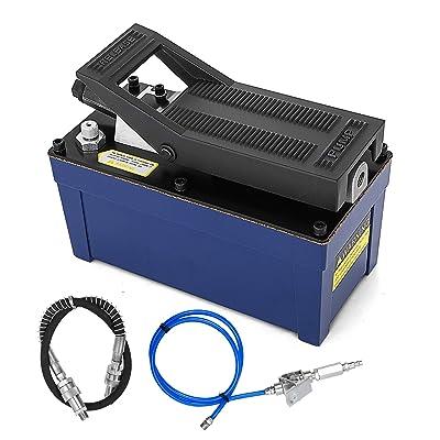 VEVOR Air Hydraulic Pump Power Pack Unit 10,000 PSI 103 In 3Cap Heavy-duty All Metal Construction Air Hydraulic Foot Pump