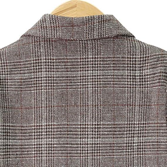 Amazon.com: AOJIAN Women Jacket Long Sleeve Outwear Vintage Ladies Notch Collar Plaid Coat Khaki: Clothing