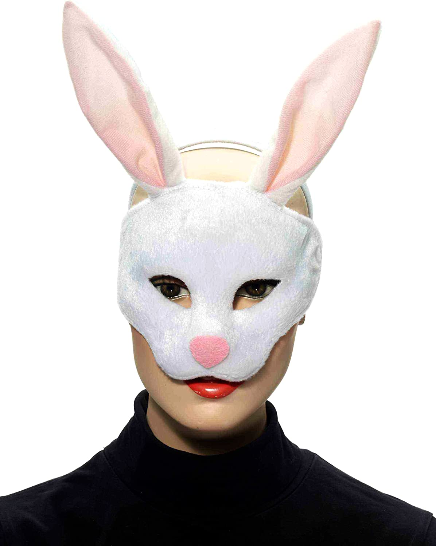 Furry Bunny Creepy Rabbit Half Mask