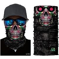 ILOVEDIY Tour de Cou Moto Tete de Mort Clown 3D Crane Cagoule Masque Multifonction Homme Halloween Deguisement