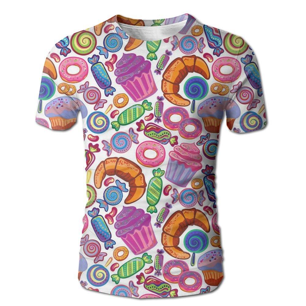XIA WUEY Sweet Dount MenCool Baseball Tshirt Graphic Tees Tops For Outdoor