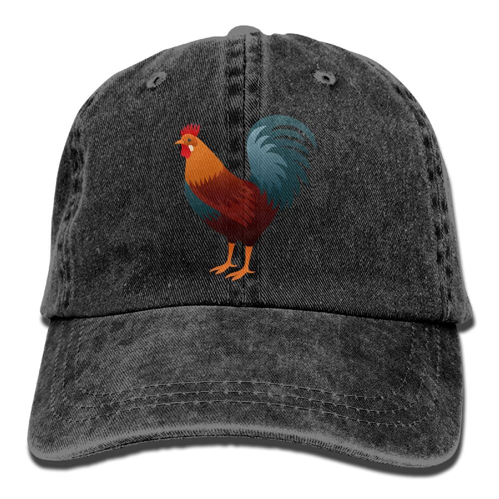 Denim Baseball Cap The Lifelike Rooster Art Summer Hat Adjustable Cotton Sport Caps
