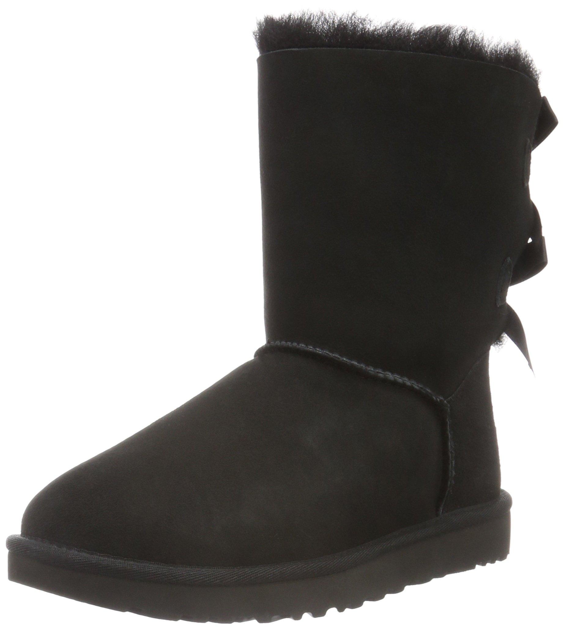 UGG Women's Bailey Bow II Winter Boot, Black, 9 B US