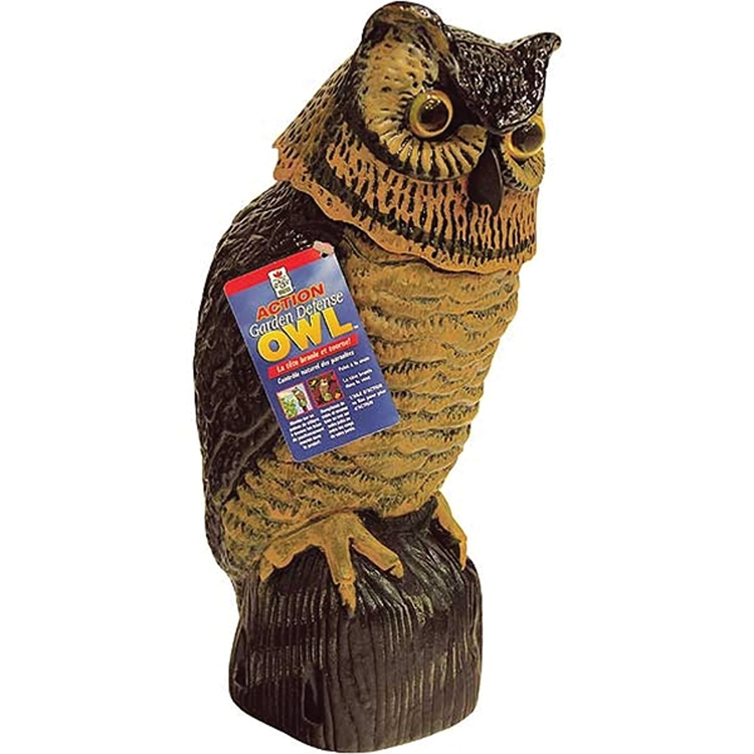 Amazon.com : Easy Gardener 8011 Garden Defense Wind Action Owl : Bird  Repellents : Garden U0026 Outdoor