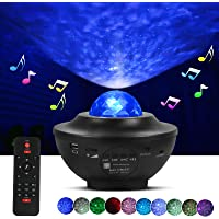 Tcamp Night Light Projector Galaxy Star Projector Led Ocean Wave Projector with Remote Timer & Bluetooth Music Speaker…
