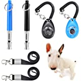 JESOT Dog Training Whistle with Clicker, Adjustable Pitch Ultrasonic Dog Training Kit with Lanyard for Dog Recall Repel Silen