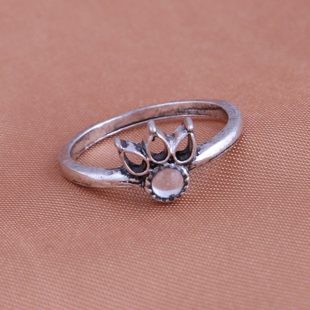 Amazon.com: 13 Pcs Vintage Women Mid Ring Set Flower Moon Rhinestone ...