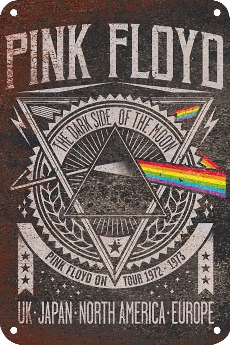 HiSign Pink Floyd Cartel de Pared de Chapa Retro Hierro Pintura Placa de Metal de La Vendimia Decoraci/ón Colgando Cartel de la Obra de Arte para Bar Cofe Tienda Home Yard