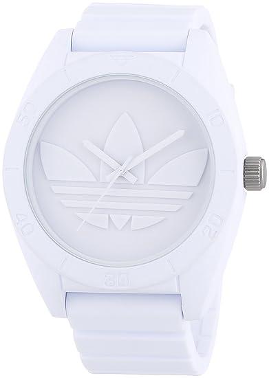 adidas Santiago - Reloj de cuarzo para hombre, con correa de silicona, color blanco: Amazon.es: Relojes