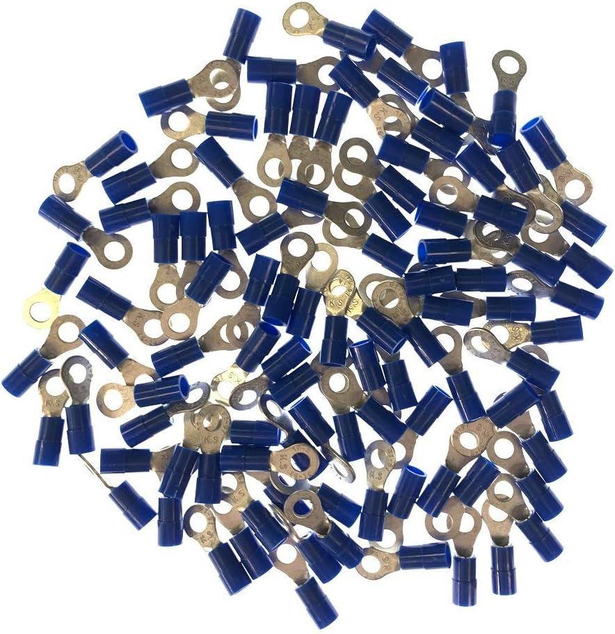 Qualitech Blue 16-14GA AWG Nylon Insulated Ring Terminals