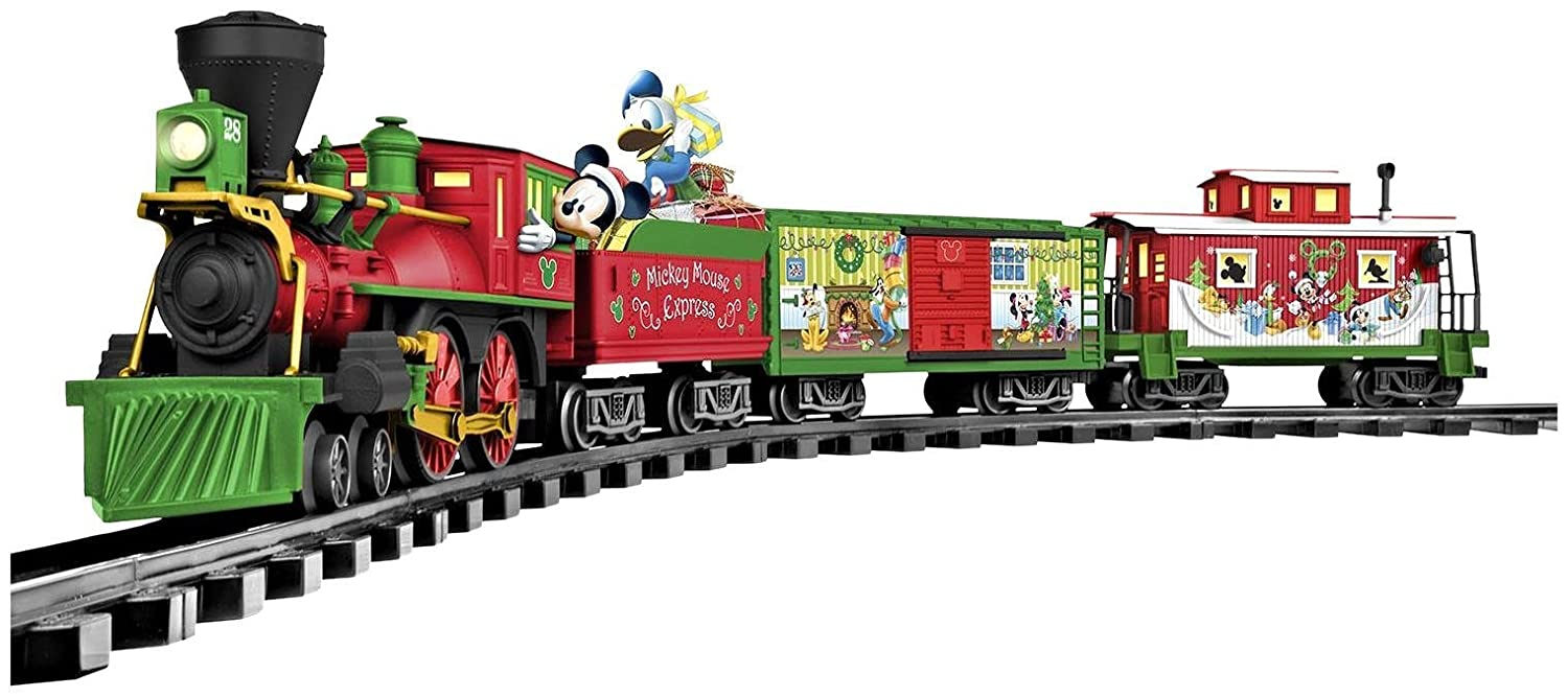 amazoncom lionel mickey mouse disney ready to play train set toys games