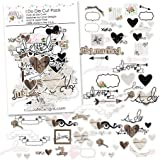 Paper Die Cuts - I Do - for Wedding - Over 60 Cardstock Scrapbook Die Cuts - by Miss Kate Cuttables