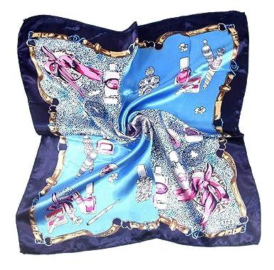 COMVIP Petit Foulard Carré Femme Imprimé en Soie Imité Multiusage Décoratif  Business Style A aaaf2231fc3
