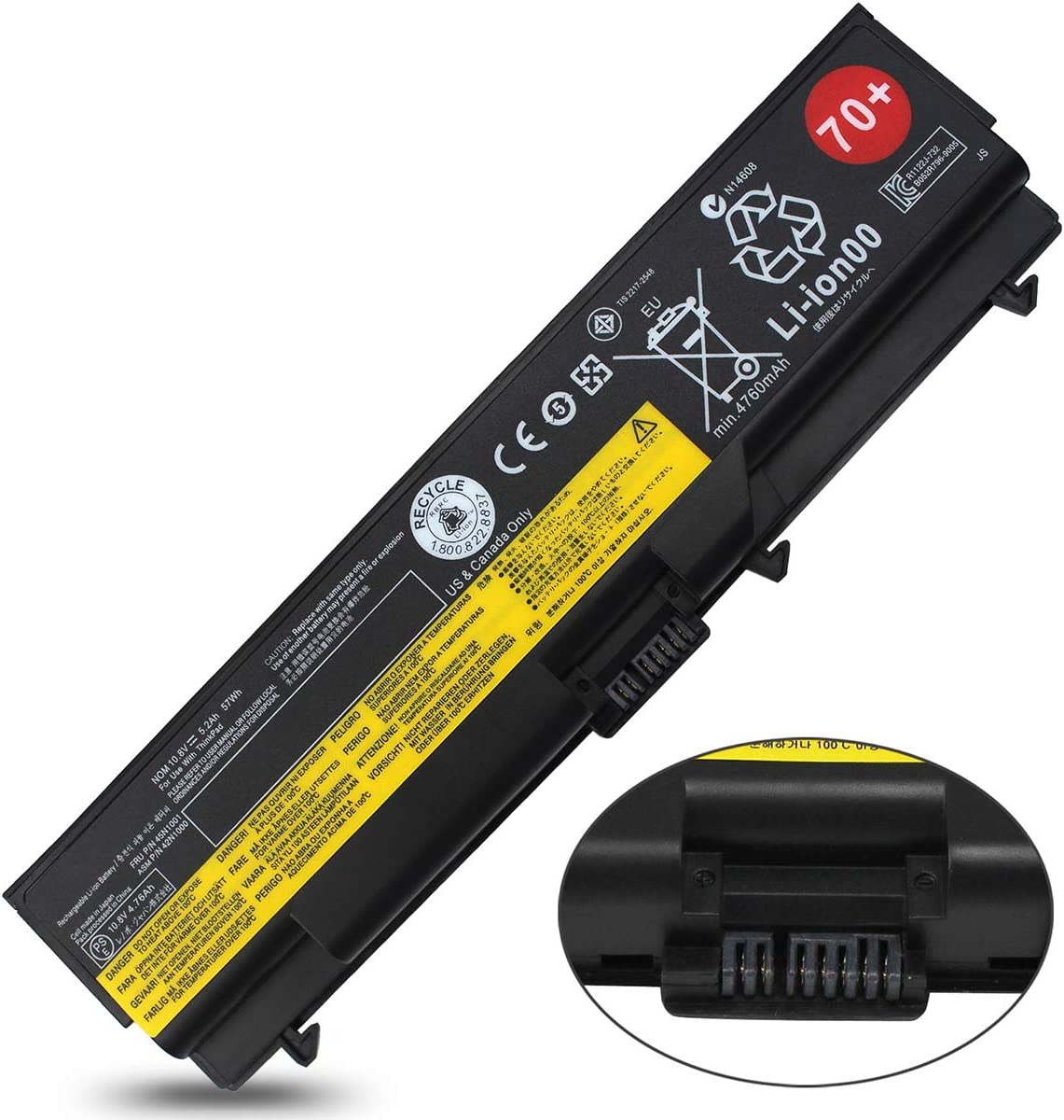 0A36303 0A36302 Laptop Battery Compatible with Lenovo ThinkPad T430 T530 W530 T420 T410 T520 T510 W510 W520 L412, 42T4751 42T4793 42T4755 42T4763 42T4848 45N1000 42T4791 51J0499 42T4235 (57Wh 6-Cell)