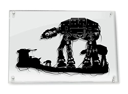 Star Wars AT AT Walker on Hoth – FRAMED hand cut paper art