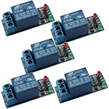 DAOKI® 5 PCS 5v Relay Module for Arduino ARM PIC AVR MCU 5V Indicator Light LED 1 Channel Relay Module Works with Official Arduino Boards