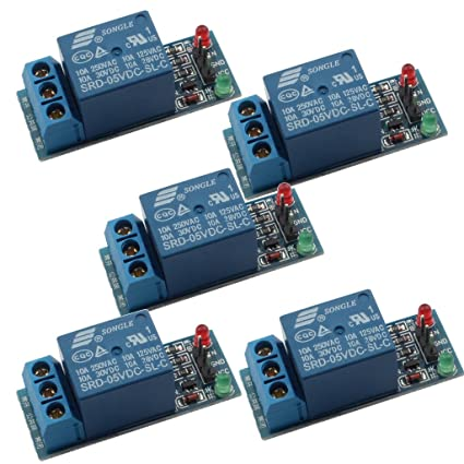 Strange Amazon Com Daoki 5 Pcs 5V Relay Module For Arduino Arm Pic Avr Mcu Wiring Digital Resources Minagakbiperorg