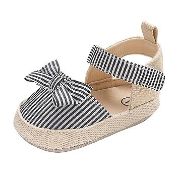 Newborn Baby Girl sandals Bow Soft Crib Shoes Infant Antislip Sneakers Prewalker
