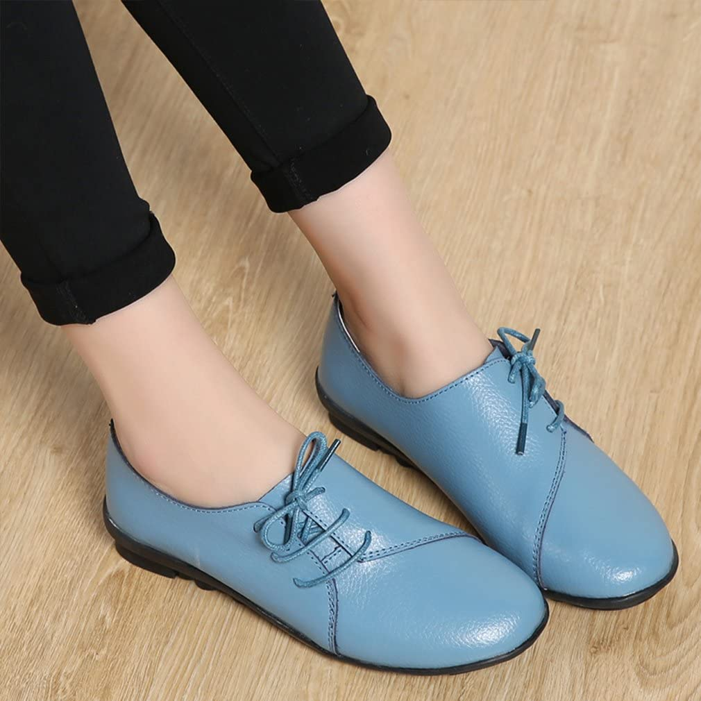 Kyle Walsh Pa Women Casual Lace-up Flat Heel Driving Loafers Blue
