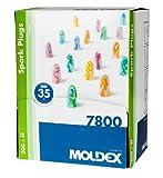 Moldex SparkPlugs® Extra-Soft Extra Light Foam Earplugs - SNR 35db (100 Pairs)